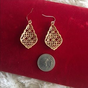 Bdecked & Bdazzled Jewelry - Moroccan Gold Scroll Hexagon Statement Earrings